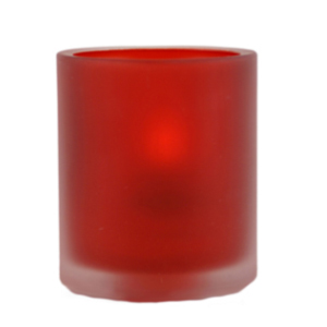 Ruby-Frost-Movado-Round-Table-Lamp