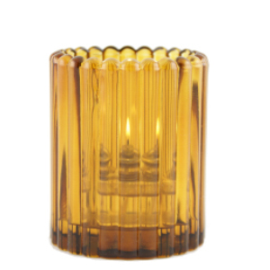 Mini-Vertical-Rib-Amber-Table-Lamp