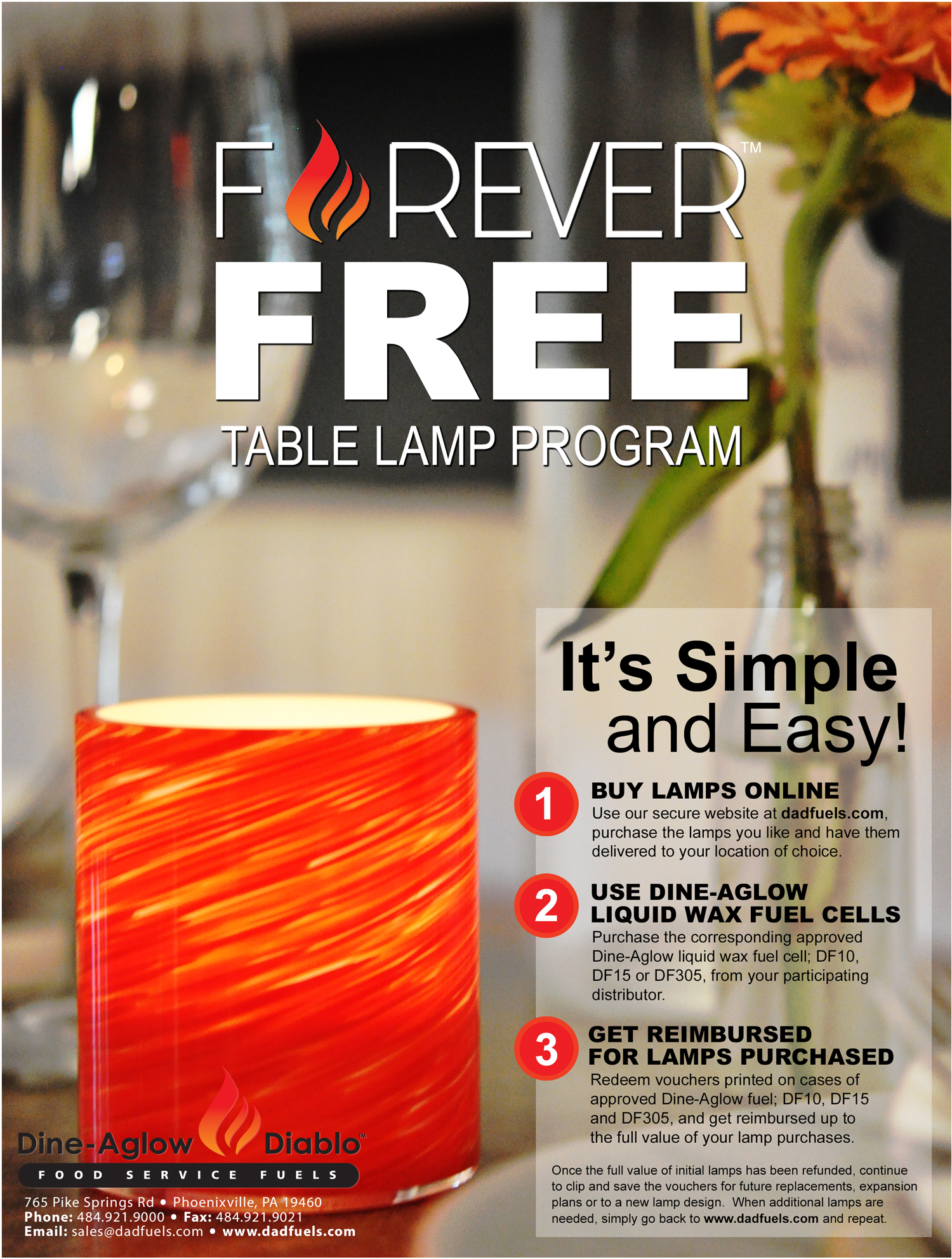 Forever Free Decorative Table Lamp Program